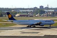D-AIGH @ EDDF - Airbus A340-311 [052] (Lufthansa) Frankfurt~D 15/09/2007 - by Ray Barber