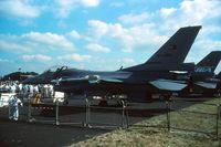87-0009 @ EGLF - F-16C (Turkey) 87-0009 displayed at the Farnborough Airshow in 1988. - by Alf Adams