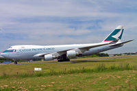 B-LIC @ LFPG - Boeing 747-467ERF [36868] (Cathay Pacific Cargo) Paris-Charles De Gaulle~F 17/06/2009 - by Ray Barber