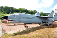 35 @ N.A. - Aéronavale (French Naval Aviation) F-8P Crusader fighter preserved at the Chateau de Savigny aircraft museum. Looks weathered ... - by Henk van Capelle