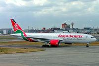 5Y-KQT @ EGLL - Boeing 777-2U8ER [33682] (Kenya Airways) Heathrow~G 15/06/2005 - by Ray Barber