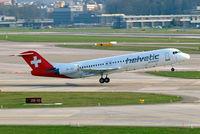 HB-JVC @ LSZH - Fokker F-100 [11501] (Helvetic Airways) Zurich~HB 05/04/2009