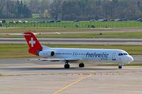 HB-JVG @ LSZH - Fokker F-100 [11478] (Helvetic Airways) Zurich~HB 05/04/2009