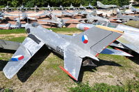 0219 @ N.A. - MiG-19S fighter of the Czechoslovak Air Force preserved at the Chateau de Savigny aircraft museum. - by Henk van Capelle