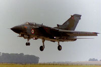 MM55003 @ EGXJ - Landing at RAF Cottesmore in May 1996 whilst coded I-43 with the based TTTE - by Clive Pattle