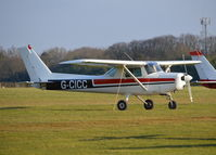 G-CICC @ EGLD - Cessna 152 at Denham - by moxy