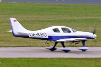 OE-KBG @ EDNY - Neico Lancair ES [AES-01] Friedrichshafen~D 04/04/2009. Slight heat haze from exhaust of airliner affecting the undercarriage.