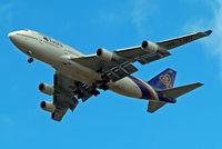 HS-TGH @ EGLL - Boeing 747-4D7 [24458] (Thai Airways) Home~G 04/07/2010. On approach 27R.