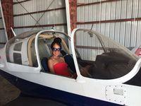 N4321B @ KCRP - My girlfriend enjoying her first trip in the Bulldog - by Tom Klassen