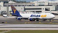 N415MC @ MIA - Atlas 747-400F