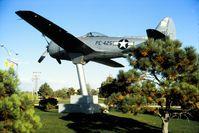 44-89425 @ KCOS - Shown on a pedestal on Peterson Air Force Base, Colorado Springs, Colorado in 1992. - by Alf Adams