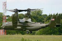 168306 @ LFRB - Presidential USMC Bell-Boing MV-22B Osprey (Code 07-cn D0223) on final rwy 25L, Brest-Bretagne airport (LFRB-BES) - by Yves-Q