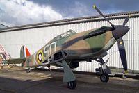 BAPC072 @ EGBJ - Hawker Hurricane (replica) (Unknown) Staverton~G 13/O3/2013 - by Ray Barber