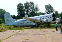 C-GFFQ @ CYFD - Douglas C-54D Skymaster [27298] (Millardair) Brantford~C 24/06/2005