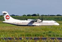 OY-RTC @ EKCH - Aerospatiale ATR-72-202 [508] (Cimber Air) Copenhagen-Kastrup~OY 10/06/2008. Undercarriage hidden by long grass in front of runway.
