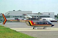 D-HHAA @ EDDN - Bell 206L-3 LongRanger III [51446] Nuremberg-Nurnberg~D 08/09/1993. From a slide. - by Ray Barber