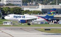 N521NK @ FLL - Spirit A319