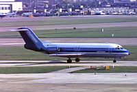 PH-CHD @ EGLL - Fokker F-28-4000 Fellowship [11139] (NLM CityHopper) Heathrow~G (date unknown). From a slide.