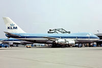 PH-BUH @ EHAM - Boeing 747-206B SUD [21110] (KLM Royal Dutch Airlines) Schiphol~PH 14/06/1980. From a slide.