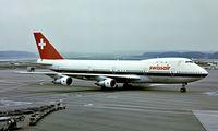 HB-IGB @ LSZH - Boeing 747-257B [20117] (Swissair) Zurich~HB 10/09/1981. From a slide.