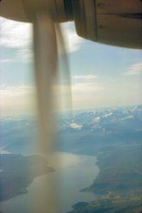 LN-SUL - Early morning flight, Bergen to Trondheim via Alesund. 17th August 1966. - by Peter McKenzie
