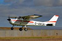 G-AWUN @ EGBR - Departure - by glider