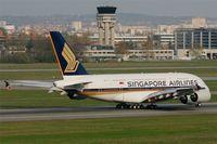 9V-SKQ @ LFBO - Airbus A380-841, Take off rwy 14R, Toulouse Blagnac Airport (LFBO-TLS) - by Yves-Q