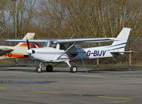 G-BIJV @ EGLK - Reims Cessna F152 at Blackbushe. - by moxy