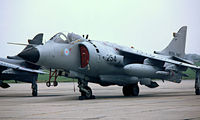 ZA193 @ EGDY - BAe Sea Harrier FRS.1 [41H-912032] (Royal Navy) RNAS Yeovilton~G 31/07/1982. From a slide.