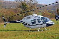 G-BKZI @ EGBC - Bell 206B Jet Ranger II [118] Cheltenham Racecourse~G 17/03/2011