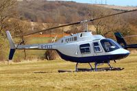 G-FEZZ @ EGBC - Agusta-Bell AB.206B Jet Ranger II [8317] (Helicopter Services) Cheltenham Racecourse~G 16/03/2010