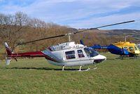 G-JLEE @ EGBC - Agusta-Bell AB.206B3 Jet Ranger III [8588] Cheltenham Racecourse~G 16/03/2004