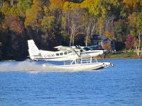 C-GCAF @ CYYB - A beautiful site around Trout Lake near North Bay, ON. - by Paul Desjardins