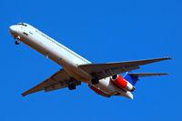 SE-DFU @ EGLL - McDonnell-Douglas DC-9-82 [49421] (SAS Scandinavian Airlines) Home~G 05/03/2010. On approach 27R.