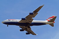 G-BYGC @ EGLL - Boeing 747-436 [25823] (British Airways) Home~G 26/05/2013. On approach 27R.