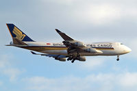 9V-SFD @ EGLL - Boeing 747-412F [26553] (Singapore Airlines Cargo) Home~G 25/05/2013. On approach 27L. - by Ray Barber