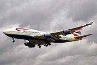 G-BNLN @ EGLL - Boeing 747-436 [24056] (British Airways) Heathrow~G 31/08/2006. On finals 27L.
