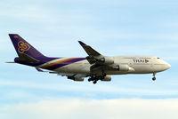 HS-TGG @ EGLL - Boeing 747-4D7 [33771] (Thai Airways) Home~G 23/05/2013. On approach 27L.