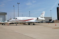 C-GMII @ KCID - At Landmark ramp - I believe this is a Falcon 2000! - by Glenn E. Chatfield