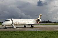 5A-LAM @ LMML - Canadair CL-600 Reg Jet CRJ900 5A-LAM Libyan Airlines - by Raymond Zammit