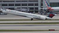 N912DN @ MIA - Delta MD-90