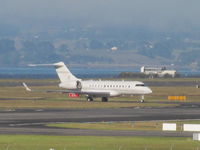 B-KMF @ NZAA - long shot on landing with Manukau Habour in background - by magnaman