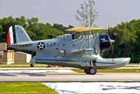 N1214N @ KLAL - Grumman J2F-6 Duck [Bu33549] Lakeland-Linder~N 15/04/2010 - by Ray Barber