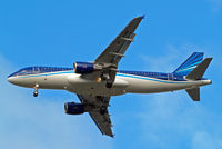 4K-AZ80 @ EGLL - Airbus A320-214 [2991] (Azerbaijan Airlines) Home~G 05/11/2014. On approach 27R. - by Ray Barber