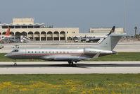 9H-VJH @ LMML - Bombardier BD-700 9H-VJH Vistajet - by Raymond Zammit