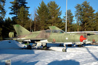 MK-126 @ EFJY - MiG-21UM trainer of the Finnish Air Force at the Aviation Museum of Central Finland at Tikkakoski. - by Van Propeller
