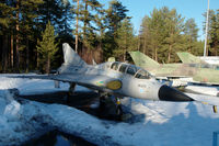 DK-270 @ EFJY - Saab 35CS Draken trainer of the Finnish Air Force at the Aviation Museum of Central Finland at Tikkakoski. - by Van Propeller