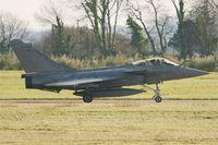 11 @ LFRJ - Dassault Rafale M, Taxiing to holding point rwy 08, Landivisiau Naval Air Base (LFRJ) - by Yves-Q