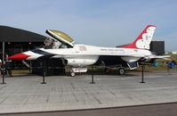 75-0745 @ LAL - YF-16 in Thunderbirds colors - by Florida Metal