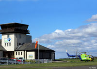 G-CDBS @ EGPT - Pictured on the grass dispersal outside the tower at Perth EGPT - by Clive Pattle